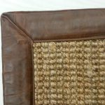 Hemp Boucle Gold with Crackle Leather Binding